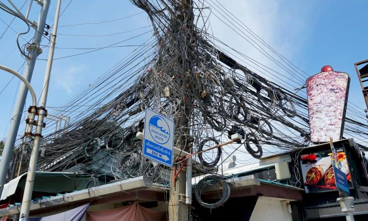 Electricity cables in Thailand are going away soon.
