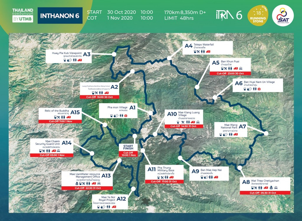 Thailand by UTMB course map inthanon 6